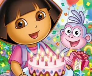 Dora feiert ihr Jubiläum puzzle