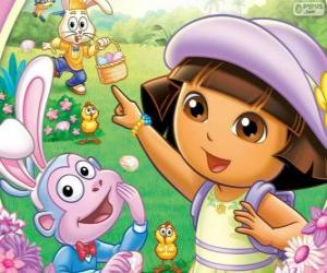 Dora the Explorer zu Ostern puzzle