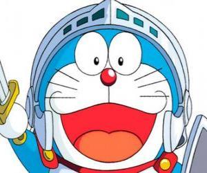 Doraemon in einem seiner Abenteuer puzzle