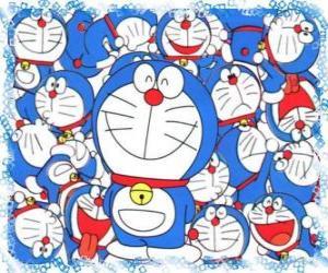 Doraemon ist eine kosmische Katze, die aus der Zukunft kommt puzzle