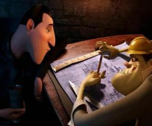 Dracula überprüfen die Pläne der Hotel Siebenbürgen puzzle
