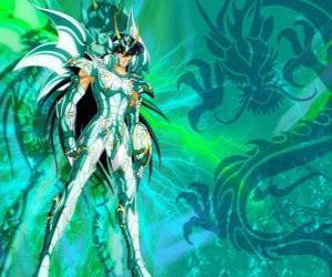 Dragon Shiryu, einer der fünf Helden von Saint Seiya. Der Bronze-Ritter des Sternbildes Dragon puzzle