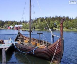 Drakkar oder wikinger-schiff puzzle