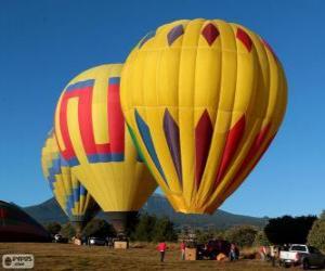 Drei Ballons flugbereit puzzle