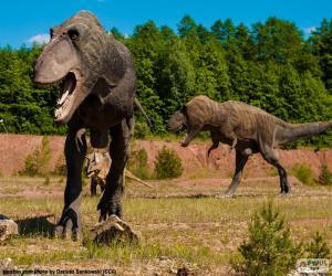 Drei Dinosaurier puzzle