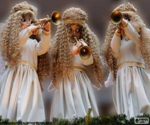 Drei Engel spielt Trompete puzzle