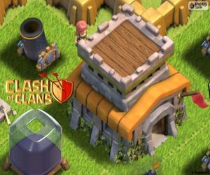 Drei Gebäude der Clash of Clans puzzle