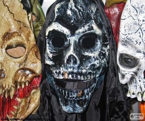 Drei Masken Halloween puzzle