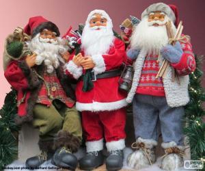 Drei Puppen von Santa Claus puzzle