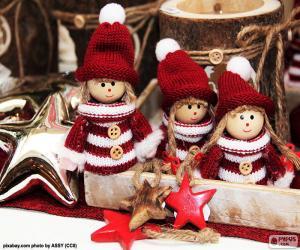 Drei Weihnachten Puppen puzzle