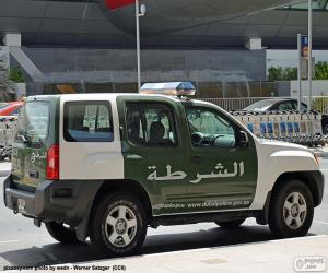 Dubai Polizei-Auto puzzle