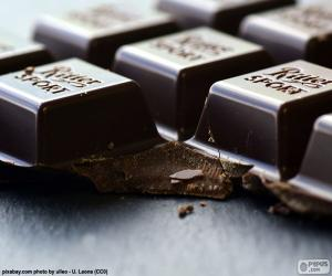 Dunkle Schokolade Tablet puzzle
