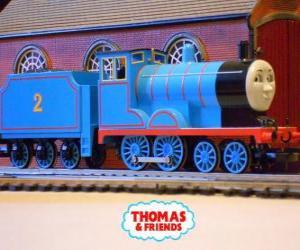 Edward, hat die blaue Lok die Nummer 2 puzzle