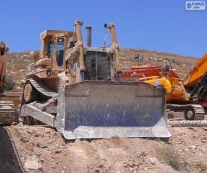 Ein bulldozer puzzle