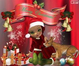 Ein Elf gratulieren Weihnachten puzzle