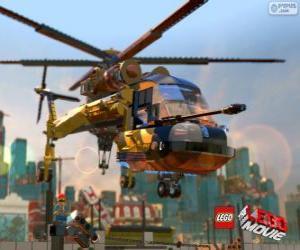 Ein Hubschrauber aus dem Lego-Film puzzle