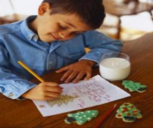 Ein Kind schrieb einen Brief an den Weihnachtsmann puzzle