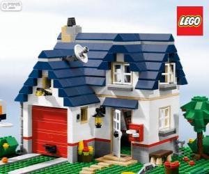 Ein Lego-Haus puzzle