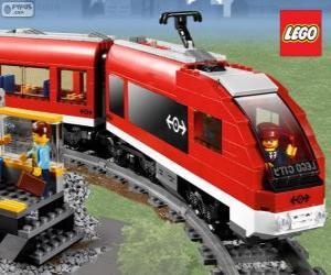 Ein Lego-Zug puzzle