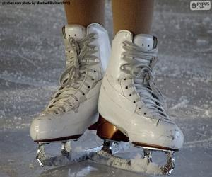 Ein Paar Schlittschuhe für Eiskunstlauf puzzle