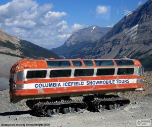 Ein Schnee-Reisebus puzzle