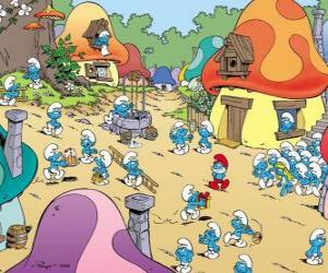 Ein Tag in das Dorf der Schlümpfe puzzle