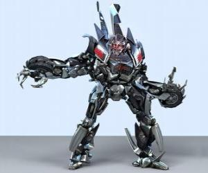 Ein Transformator, ein intelligenter Roboter. Transformers puzzle