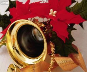 Eine Glocke für Weihnachten dekoriert puzzle