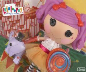 Eine Lalaloopsy Puppe, Peanut Big Top mit ihrem Haustier, ein Elefant puzzle