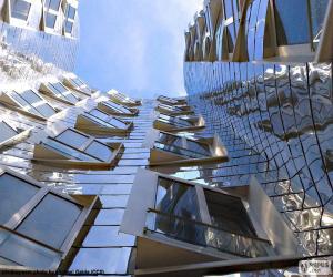 Eine moderne Gebäude-Fassade puzzle