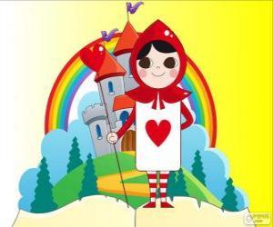 Eine Spielkarte Herz ist ein Soldat puzzle