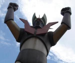 Eine Statue von Mazinger Z puzzle