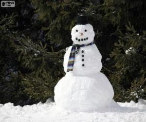 Eine stilvolle Schneemann puzzle