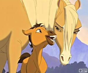 Eine zarte Szene des Film Spirit, Der wilde Mustang puzzle