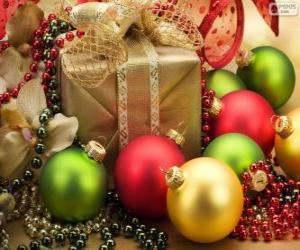 Eingerichteten Weihnachtsgeschenk puzzle