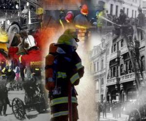 Einige Bilder der Feuerwehrleute puzzle