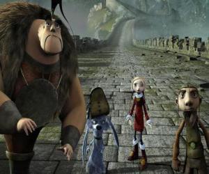 Einige der Protagonisten der Abenteuer Gwizdo, Zoe, Hektor und Lian-Chu puzzle