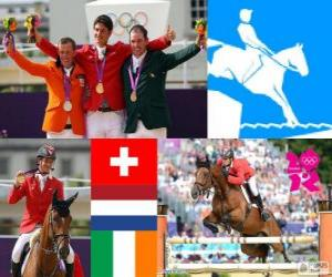Einzelne springenden Pferde London 2012 puzzle