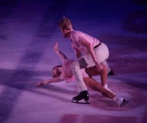 Eiskunstläufer in eine Eisbahn puzzle