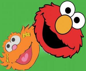 Elmo und Zoe puzzle