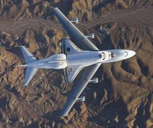Endevor Space Shuttle durchgeführt auf einem 747 puzzle