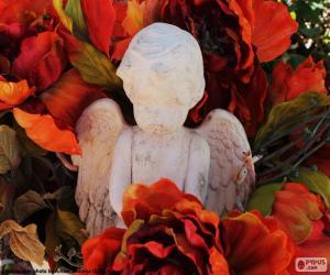 Engel unter Blumen puzzle