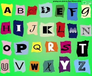 Englisches Alphabet puzzle