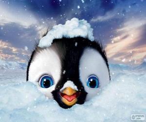 Erick ist die Hauptfigur der Happy Feet Two puzzle