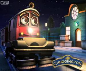 Erwin, die kleine Lokomotive für Abfall und recycling puzzle