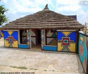 Ethnische House, Südafrika puzzle