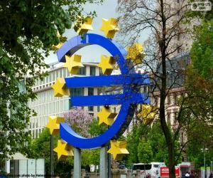 Europäische Zentralbank-logo puzzle
