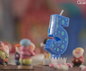 Fünften Geburtstag puzzle