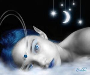 Fairy blaue Augen puzzle