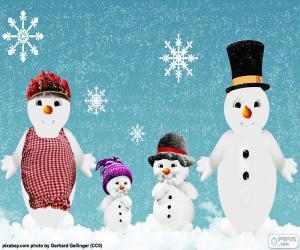 Familie der Schneemänner puzzle